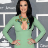 The mint green frock put Katy's breasts on display with its sexy keyhole cut-out Thumbnail